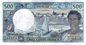 Neue Hebriden / New Hebrides  P.19d 500 Francs (1980-) (1)