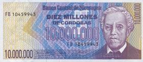 Nicaragua P.166 10.000.000 Cordobas (1990) (1)