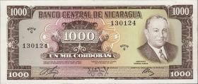 Nicaragua P.128a 1000 Cordobas 1972 (1)