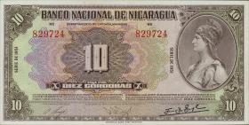 Nicaragua P.094c 10 Cordoba 1951 (1)
