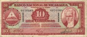 Nicaragua P.101b 10 Cordobas 1959 (3)