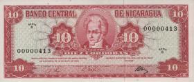 Nicaragua P.117 10 Cordobas 1968 (1)