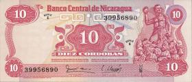Nicaragua P.134 10 Cordobas 1979 (1)