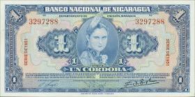 Nicaragua P.091b 1 Cordoba 1951 (1)