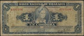Nicaragua P.099b 1 Cordoba 1957 (5)