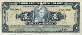 Nicaragua P.099b 1 Cordoba 1957 (2)