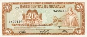 Nicaragua P.124 20 Cordobas 1972 (1)