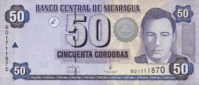 Nicaragua P.198 50 Cordobas 2006 (1)