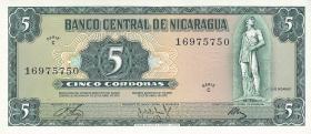 Nicaragua P.122 5 Cordobas 1972 (1)