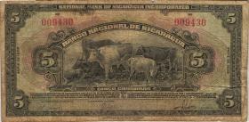 Nicaragua P.065b 5 Cordobas 1939 (5)
