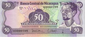 Nicaragua P.136 50 Cordobas 1979 (1)