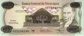 Nicaragua P.149 100.000 auf 500 Cordobas (1987) (1)