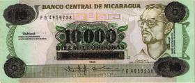 Nicaragua P.158 10.000 auf 10 Cordobas (1989) (1)