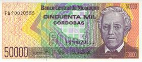 Nicaragua P.161 50.000 Cordobas (1989) (1)