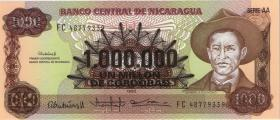 Nicaragua P.164 1.000.000 auf 1000 Cordobas (1990) (1)