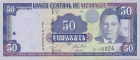 Nicaragua P.189A 50 Cordobas 2001 (1)