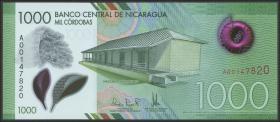 Nicaragua P.218 1000 Cordobas 2017 (2019) Polymer (1)