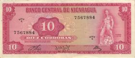 Nicaragua P.123 10 Cordobas 1972 (2)