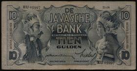 Ndl. Indien / Netherlands Indies P.079a 10 Gulden 1934 (3)
