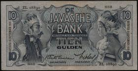 Ndl. Indien / Netherlands Indies P.079b 10 Gulden 1938 (3)