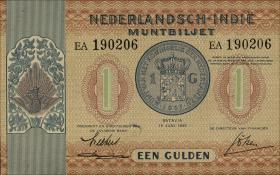 Ndl. Indien / Netherlands Indies P.108a 1 Gulden 1940 (1)