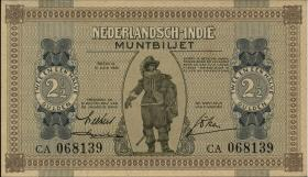 Ndl. Indien / Netherlands Indies P.109a 2 1/2 Gulden 1940 (1)