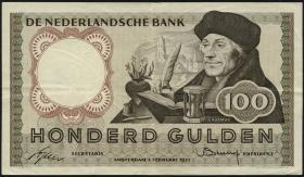 Niederlande / Netherlands P.088 100 Gulden 1953 (3/2)