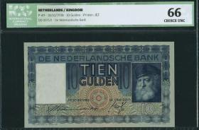 Niederlande / Netherlands P.049 10 Gulden 1938 (1)