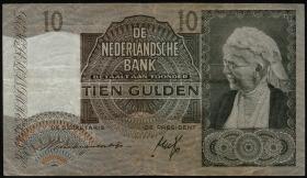 Niederlande / Netherlands P.053 10 Gulden 1940 (3)