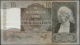 Niederlande / Netherlands P.053 10 Gulden 1941 (3)