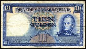 Niederlande / Netherlands P.075b 10 Gulden 1945 (3)