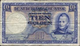 Niederlande / Netherlands P.075a 10 Gulden 1945 (3)