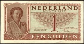 Niederlande / Netherlands P.072 1 Gulden 1949 (1-)