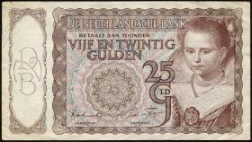 Niederlande / Netherlands P.060 25 Gulden 5.4.1944 (3