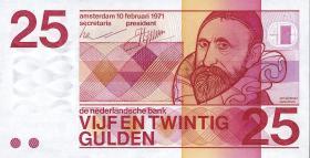 Niederlande / Netherlands P.092b 25 Gulden 1971 (1)