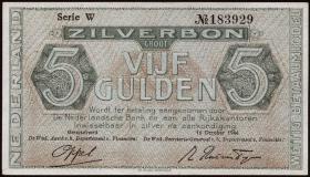 Niederlande / Netherlands P.063 5 Gulden 1944 (2+)