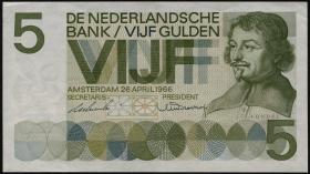 Niederlande / Netherlands P.090a 5 Gulden 1966 (2)