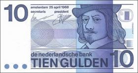 Niederlande / Netherlands P.091b 10 Gulden 1968 (1)