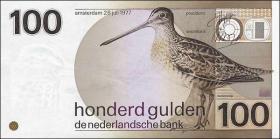 Niederlande / Netherlands P.097 100 Gulden 1977 (1981) (1)
