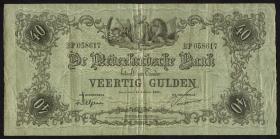 Niederlande / Netherlands P.022 40 Gulden 13.9.1921 (3)