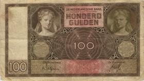 Niederlande / Netherlands P.051a 100 Gulden 1932 (3)