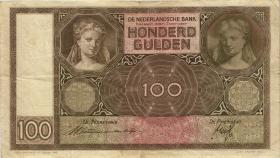 Niederlande / Netherlands P.051b 100 Gulden 1939 (3)