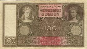 Niederlande / Netherlands P.051c 100 Gulden 1944 (3)