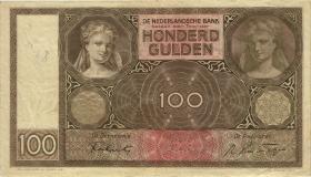 Niederlande / Netherlands P.051c 100 Gulden 1942 (3)