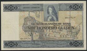 Niederlande / Netherlands P.052 500 Gulden 1930 (3+)