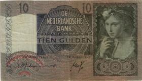 Niederlande / Netherlands P.056a 10 Gulden 1940 (4)