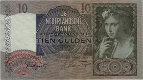 Niederlande / Netherlands P.056b 10 Gulden 1941 - 1942 (3)