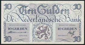 Niederlande / Netherlands P.074 10 Gulden 1945 (2+)