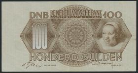 Niederlande / Netherlands P.082 100 Gulden 1947 (2)
