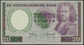 Niederlande / Netherlands P.086 20 Gulden 1955 (2+)
